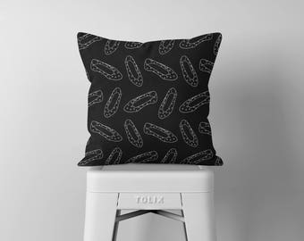 Pattern Throw Pillow, Black and White Pillow, Decorative Pillows, Square Pillow, Pillows, Throw Pillows, Accent Pillow, Cushion, Home Décor