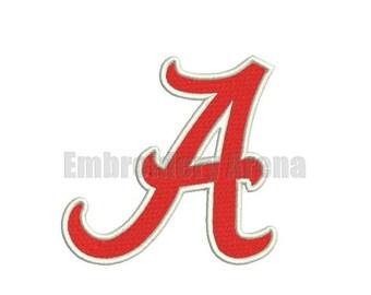 Football embroidery design - (Alabama Crimson Tide) - instant DOWNLOAD digital file