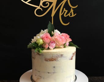 Mr and Mrs Cake Topper, Custom Cake Topper, Personalized Cake Topper for Wedding, Anniversary, Birthday,Mr and Mrs Cake Topper With Date
