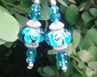 Ocean Sky Murano Earrings