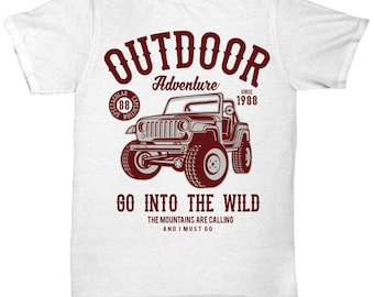 Outdoor Adventure 1988 Go Into The Wild T-shirt