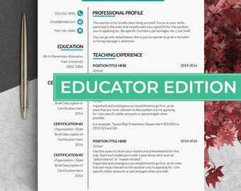 Educator resume template Teacher cv template Principal resume Education resume for teacher Resume teacher Teaching resume Cv template word
