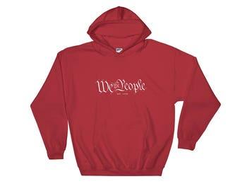 We the People Est. 1776 Hooded Sweatshirt | Patriot | Q-Anon Whistleblower | US Constitution | POTUS | Unisex Gift Sweatshirt