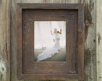 Dark American Walnut--(All Sizes) Rustic Barn Wood Picture Frame-The Loft Signature Quality Handmade Vintage Frames
