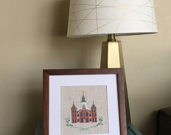 Provo City Center, Utah LDS Temple - Modern Cross Stitch Pattern PDF - Instant Download