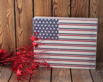 American Flag,Holiday Wood Sign,Framed Wall Art,Wood Wall Decor,Rustic Wood Sign,Wood Sign,Office Wall Art,4th of July,Patriotic Sign,Gifts