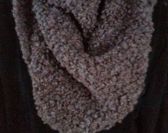 Brown curly shawl