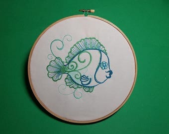 Angel Fish - Machine Embroidery Design