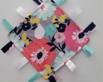 Flower Crinkle Toy with ribbons