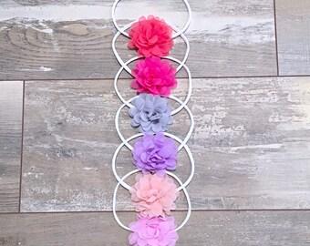 Headband For Baby Girl, Small Flower Headband, Headband Set, Headband For Newborn , Baby Headband, Girls Headband, Infant Headband, Headband