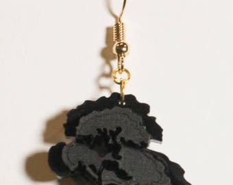tree cloud - Laser cut & engraved layering earring [Collection FRAMED 2017]