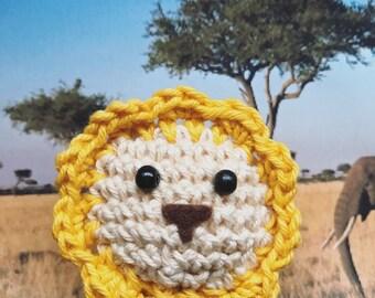 Little Lion Amigurumi, crocheted animal, keychain, lucky charm, savannah, african animals, safari