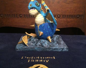 OOAK hand made hatching dragon in egg inspired by Storm Fly the Deadly Nadder (HtTYD)
