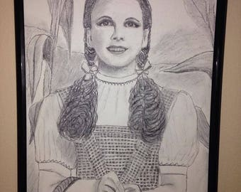 Dorothy Gale (Wizard of Oz) Charcoal Drawing