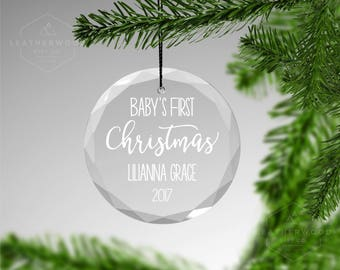 Babys First Christmas Ornament New Baby Gift Christening Gift