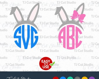 Bunny Ears SVG, easter svg,bow svg,easter bunny svg, Svg Files for Silhouette Cameo or Cricut Commercial & Personal Use.