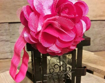 Thick Elastic Headband with Flower