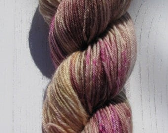 "4 Ply "" Poirot "" hand dyed sock yarn ."