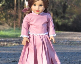 Historical Pink Doll Outfit for 18 inch dolls