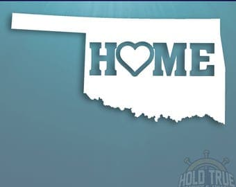 Oklahoma Decal - PICK COLOR and SIZE - Oklahoma Home Decal - Ok Decal - Oklahoma Car Decal - Oklahoma sticker - Oklahoma car sticker