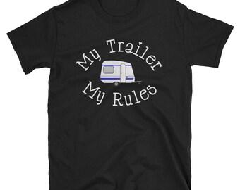 My trailer my rules,trailer shirt,trailer gift,gift for him,gift for dad,gift for grandad,rv shirt,glamping gift,retro rv gift,vintage rv sh