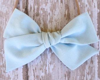 OVERSIZED Blue Bow