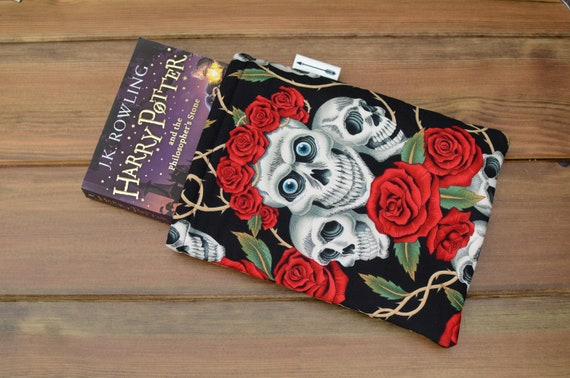 Skulls and Roses Book Sleeve