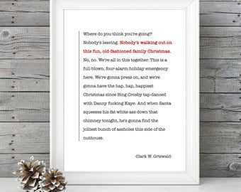 National Lampoon's Christmas Vacation - Clark's Speech - 11x14 Christmas Holiday Home Decor Poster Sign - Griswald Movie Quote