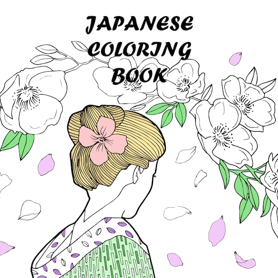 Coloring Book For AdultsJapanese Book10 Printable PagesPrintable Pagecoloring Pages Adults