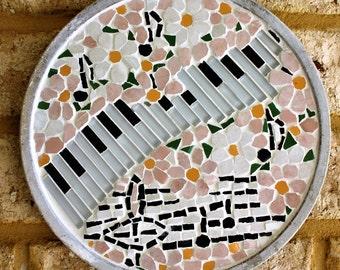 Spring. Four Seasons.Handmade Mosaic Wall Stand.Decorative Wall Decor.Mosaic Wall Art