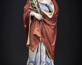"""16"""" Stunning Saint Joseph Antique Bisque Porcelain Statue St Figure"""