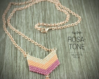 Necklace Roségoldfarben-Miyuki Pearls Pink