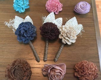 Assorted Color Boutonniere