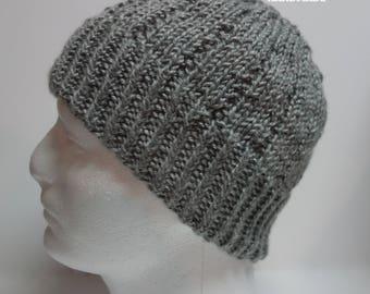 Simple Knit Toque Hat || Knit Mens Hat | Mens Knit Hat | Mens Toque | Mens Knit Toque (Color: Black / Navy / Gray / Orange / Brown)