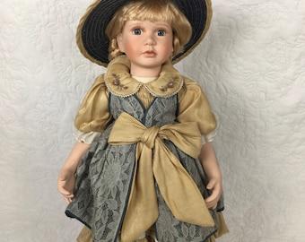 Vintage German Porcelain Doll