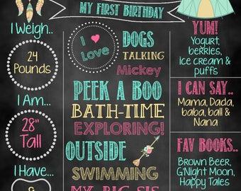 Wild One Birthday Chalkboard, Wild One, Wild One Birthday, Birthday Chalkboard, Woodland Birthday