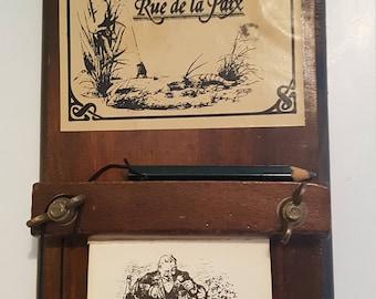 French 'Cafe Paris' Kitchen Decor (& Notepad)