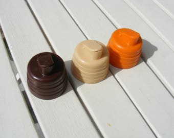 3x Vintage Milk Bottle tops