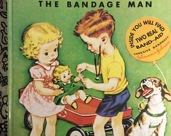 """Doctor Dan the Bandage Man a Little Golden Book #312-27 by Helen Gaspard Copyright 1950 / 1992 """"R"""" Edition illus. by Corinne Malverne"""