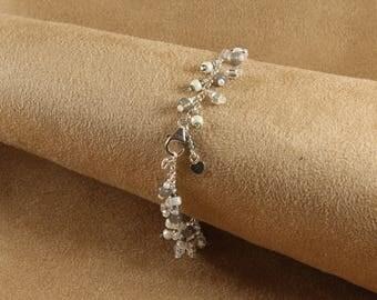 White Gray Silver Bracelet