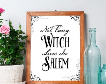 Happy Halloween, printable wall art, witchy decor, halloween decor, samhain printable, printable home decor, witchy prints, halloween art