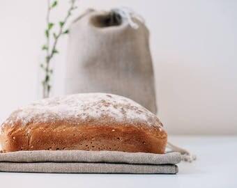 Large 100% linen bread bag