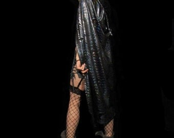 Holographic Hooded Cape