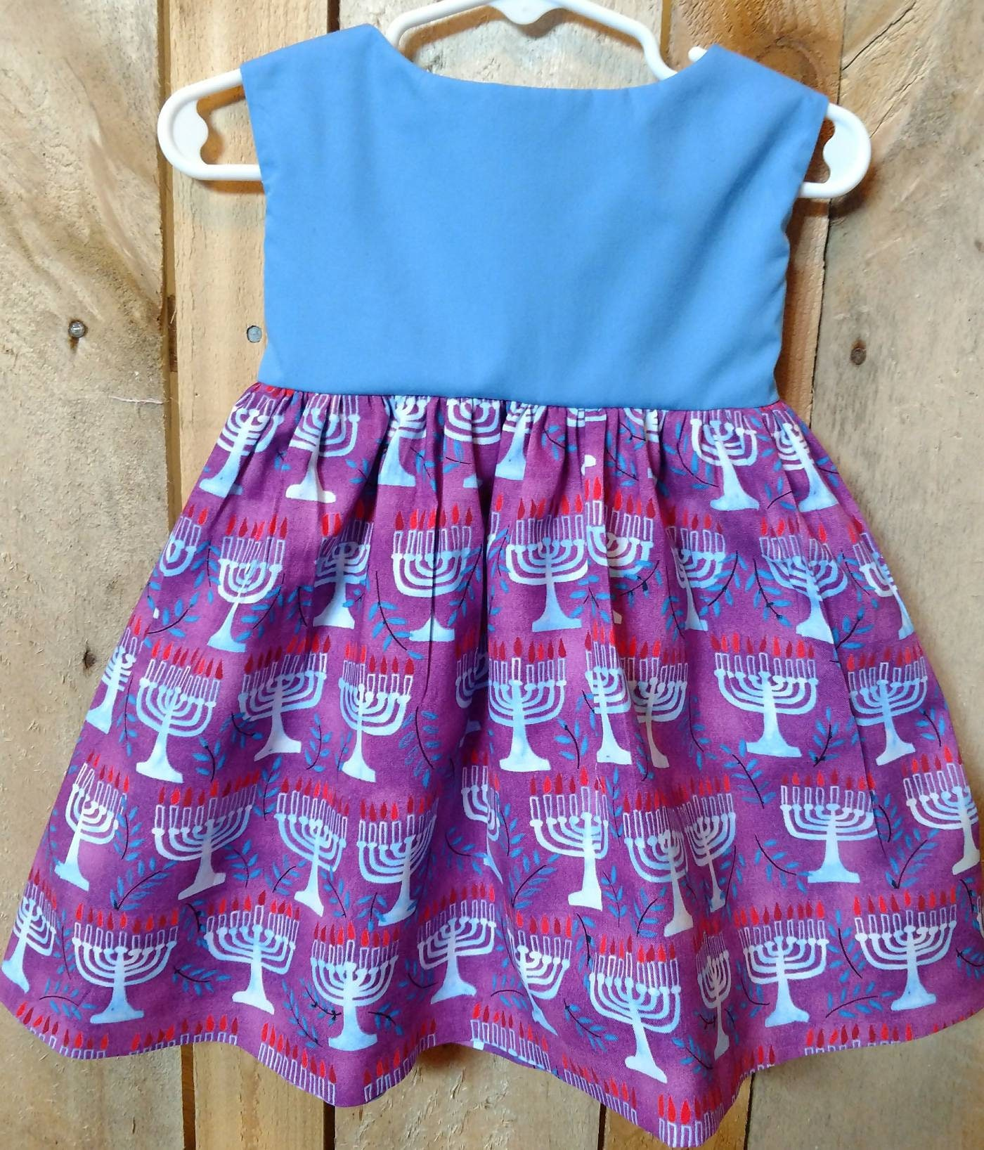Hanukkah toddler dress Hanukkah dress for baby Hanukkah girl dress
