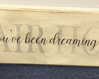 Hand-crafted, custom, personalized, wood sign with a quote of your choice