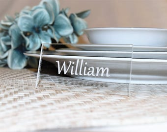 Place Cards | Place Settings | Parties | Events | Holidays | Decor | Acrylic | Laser Engraved