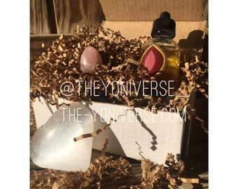 Yoni Goddess Box | Yoni egg and a bottle of Yoni Oil | Gift for Her