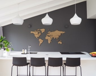 Wooden world map - LIMBA