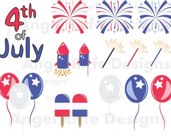 4th of July Clipart, 4th of July clip art, Independence Day Clipart, America clipart, Fourth of July clipart, Freedom, America, Patriotic