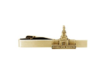 Columbia River Washington Temple Gold Tie Bar